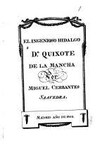 Historia de D  Quixote de la Mancha PDF