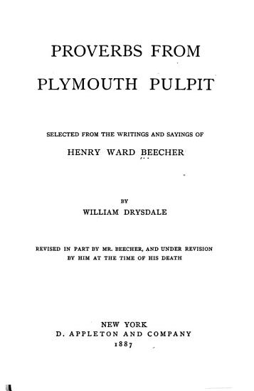 Proverbs from Plymouth Pulpit PDF