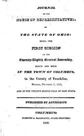 Journal of the House of Representatives of the State of Ohio: Volume 28