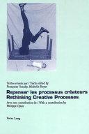 Download Repenser Les Processus Cr  ateurs Book