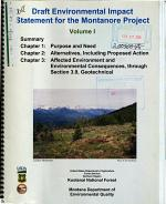 Kootenai National Forest (N.F.), Montanore Project