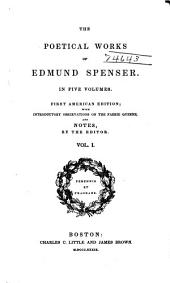 The Poetical Works of Edmund Spenser: Volume 1
