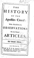 The History of the Apostles Creed PDF