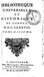 Bibliothèque universelle et historique: Volume10