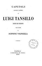 Capitoli giocosi e satirici di Luigi Tansillo editi ed inediti