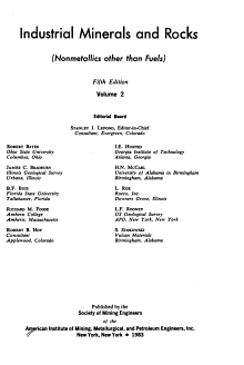 Industrial Minerals and Rocks PDF
