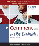 Comment for the Bedford Guide for College Writers