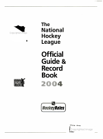 The National Hockey League Official Guide & Record Book, 2004