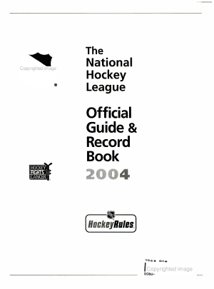 The National Hockey League Official Guide   Record Book  2004