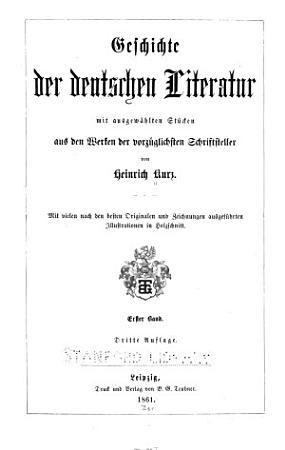Geschichte der deutschen literatur PDF