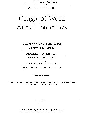 Design of Wood Aircraft Structures PDF