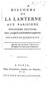Discours de la lanterne aux Parisiens. By Camille Desmoulins