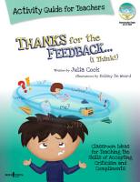 Thanks for the Feedback    I Think   Activity Guide for Teachers PDF