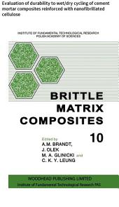 Brittle Matrix Composites: Evaluation of durability to wet/dry cycling of cement mortar composites reinforced with nanofibrillated cellulose