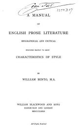 A Manual of English Prose Literature