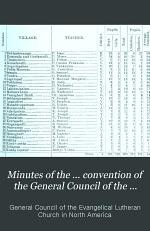 Minutes of the ... Convention of the General Council of the Evangelical Lutheran Church in America