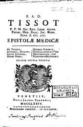 Epistolae medicae De variolis, apoplexia, hydrope, colica saturnna [!], morbo nigro, scirrhis viscerum, cephalea, inoculatione, irritabilitate, cum cadaverum sectionibus