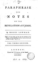 A Paraphrase and Notes on the Revelation of St  John PDF