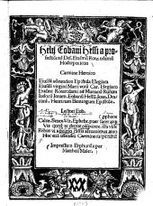 Helii Eobani Hessi a profectio[n]e ad Des. Erasmu[m] Roterodamu[m] Hodoeporicon, carmine Heroico: Ejusdem ad eundem Epistola Elegiaca ....