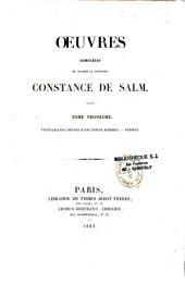 Oeuvres complètes de Madame la princesse Constance de Salm
