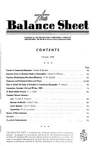 The Balance Sheet PDF