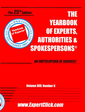 Yearbook of Experts  Authorities   Spokespersons  Vol XXV  No II