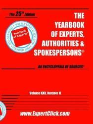 Yearbook Of Experts Authorities Spokespersons Vol Xxv No Ii Book PDF