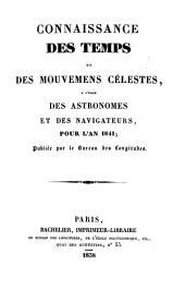 Connaissance des temps: ou des mouvements célestes, à l'usage des astronomes et des navigateurs