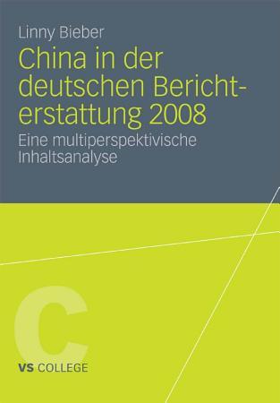 China in der deutschen Berichterstattung 2008 PDF