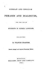 Dentsche und Eugllsche Redensarten und Gesprache