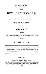 Memoirs of the rev  Dan Taylor PDF