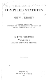 Compiled Statutes of New Jersey: Volume 1