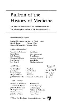 Bulletin of the History of Medicine PDF