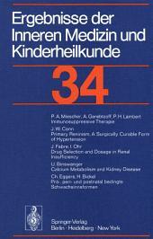 Ergebnisse der Inneren Medizin und Kinderheilkunde: 34 Band