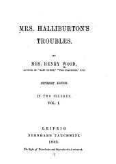 Mrs. Halliburton's Troubles: Volume 1
