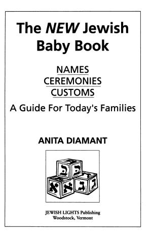 The New Jewish Baby Book