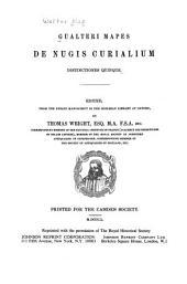 Gualteri Mapes De nugis curialium distinctiones quinque