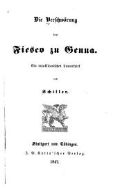 Die verschwörung des Fiesco zu Genua: ein republicanisches trauerspiel
