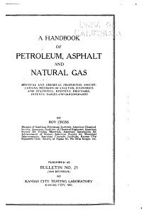 A Handbook of Petroleum  Asphalt and Natural Gas PDF
