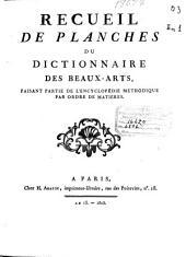 Recueil de planches du Dictionnaire des Beaux-Arts, faisant partie de l'Encyclopédie méthodique par ordre de matières