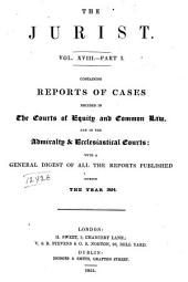 The Jurist: Volume 18, Part 1