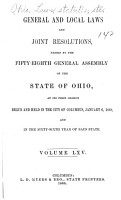 Acts of the State of Ohio PDF