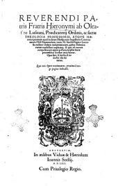 Reuerendi ... Hieronymi ab Oleastro Lusitani, ... Commentaria in Mosi Pentateuchum, iuxta M. Sanctis Pagnini Lucensis ... interpretationem, quibus Hebraica veritas exactissimè explicatur, ..
