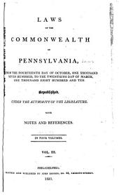 Laws of the Commonwealth of Pennsylvania: Dec. 7, 1790-Apr. 6, 1802