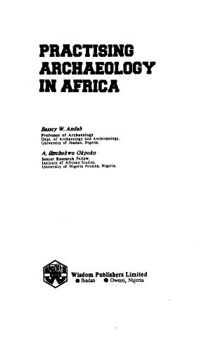 Practising Archaeology in Africa PDF