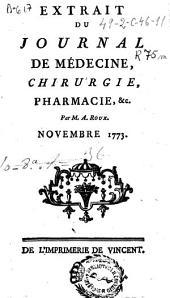Extrait du journal de médecine, chirurgie, pharmacie, &c
