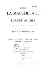 La Marseillaise de Rouget de Lisle: notice historique