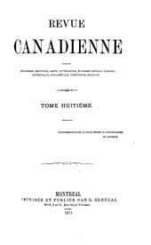 Revue canadienne: Volume 8