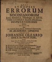 Synopsis errorum Socinianorum