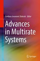 Advances in Multirate Systems PDF